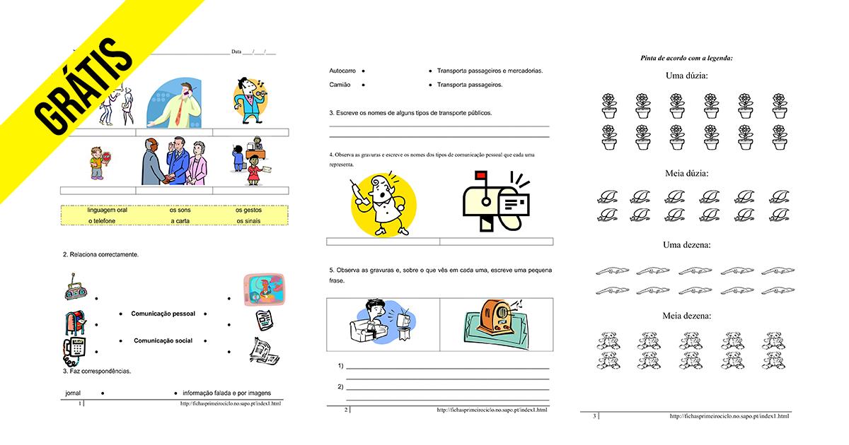 Fichas de 2º ano Grátis para imprimir e download